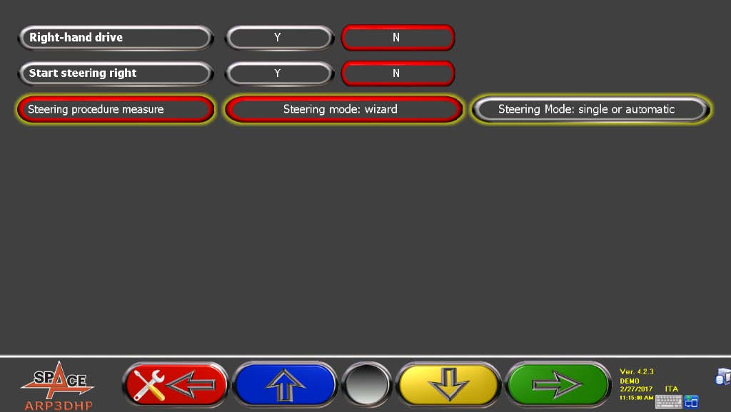 INFO SPACE 0617 New wheel alignment software functions - GUIDED STEERING .jpg